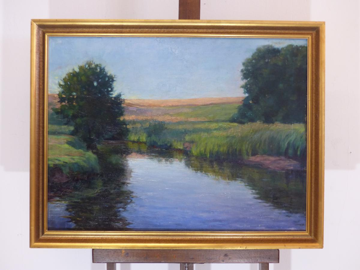 Large oil painting on canvas circa Impressionist period France early xx th late nineteenth