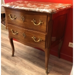 "Small Commode ""sauteuse"" two drawers in mahogany 18th century"