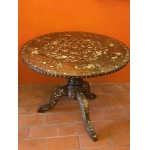INDOCHINESE PEDESTAL TABLE WITH MOTHER-OF-PEARL INLAY LATE 19th C