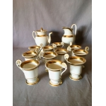 EMPIRE COFFEE SERVICE IN OLD PARIS PORCELAIN