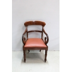 Office chair with Victorian butts - XIXth