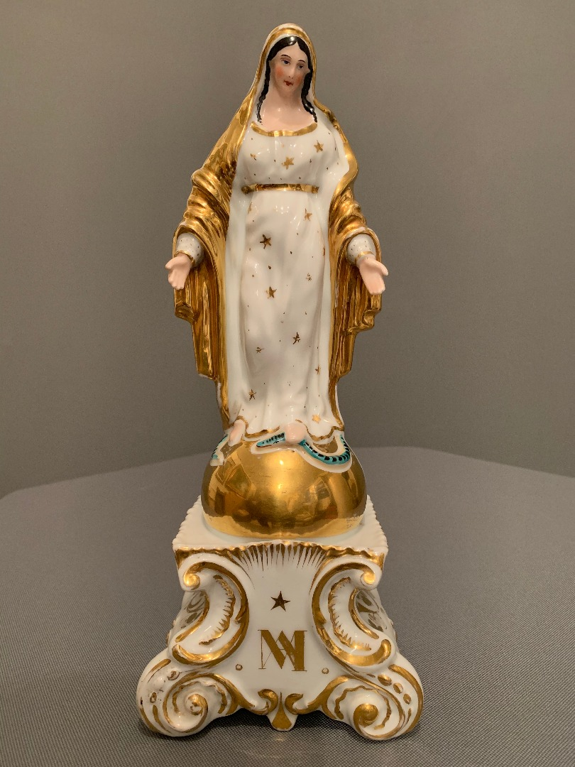 PORCELANA DE PARIS VIRGEN MARIA