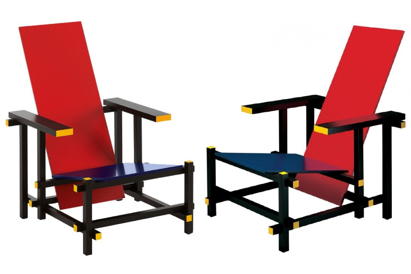 PAIR OF ARMCHAIRS  AFTER GERRIT RIETVELD