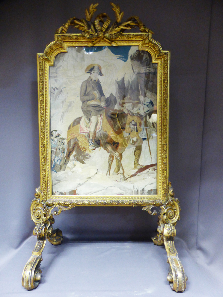 NAPOLEON III PERIOD FIRE SCREEN