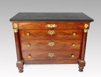 FRENCH EMPIRE PERIOD  CHEST OF DRAWERS