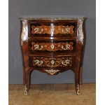 Louis XV Style Commode In Flower Marquetry